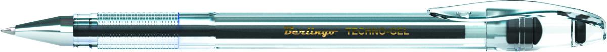 Berlingo Ручка гелевая Techno-Gel черная610842В гелевой ручке Berlingo Techno-Gel содержатся специальные чернила, в состав которых входит вода и масляная основа.Водостойкие чернила хорошо пишут в холодную погоду и долго не выцветают. Диаметр пишущего узла - 0,5 мм. Цвет чернил - черный.