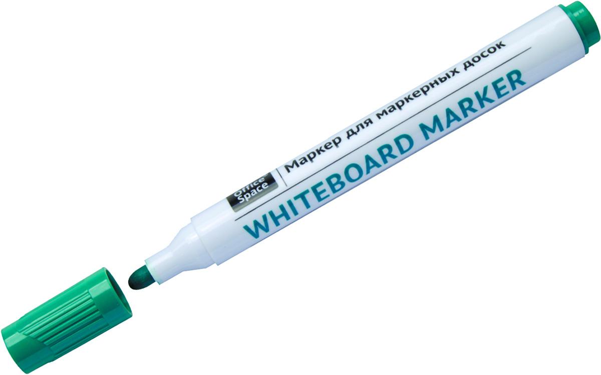 OfficeSpace Маркер для белых досок цвет зеленыйSMA510-V8-ETМаркер OfficeSpace предназначен для письма на магнитно-маркерных досках. Закругленный пишущий узел. Толщина линии 2,5 мм. Чернила на спиртовой основе легко стираются сухой губкой для досок. Хранить с закрытым колпачком.