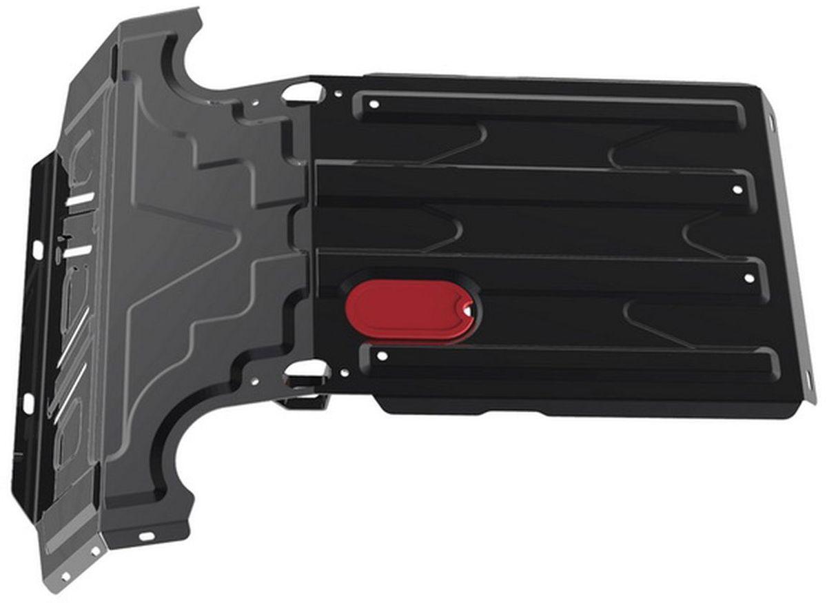 Защита радиатора Автоброня, для Chevrolet Niva. 1.01017.198298130Технологически совершенный продукт за невысокую стоимость.Защита разработана с учетом особенностей днища автомобиля, что позволяет сохранить дорожный просвет с минимальным изменением.Защита устанавливается в штатные места кузова автомобиля. Глубокий штамп обеспечивает до двух раз больше жесткости в сравнении с обычной защитой той же толщины. Проштампованные ребра жесткости препятствуют деформации защиты при ударах.Тепловой зазор и вентиляционные отверстия обеспечивают сохранение температурного режима двигателя в норме. Скрытый крепеж предотвращает срыв крепежных элементов при наезде на препятствие.Шумопоглощающие резиновые элементы обеспечивают комфортную езду без вибраций и скрежета металла, а съемные лючки для слива масла и замены фильтра - экономию средств и время.Конструкция изделия не влияет на пассивную безопасность автомобиля (при ударе защита не воздействует на деформационные зоны кузова). Со штатным крепежом. В комплекте инструкция по установке.Толщина стали: 2 мм.