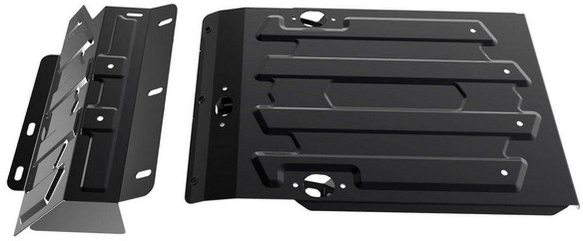 Защита картера и КПП Автоброня, для Lada 4х4. 1.06006.198298130Технологически совершенный продукт за невысокую стоимость.Защита разработана с учетом особенностей днища автомобиля, что позволяет сохранить дорожный просвет с минимальным изменением.Защита устанавливается в штатные места кузова автомобиля. Глубокий штамп обеспечивает до двух раз больше жесткости в сравнении с обычной защитой той же толщины. Проштампованные ребра жесткости препятствуют деформации защиты при ударах.Тепловой зазор и вентиляционные отверстия обеспечивают сохранение температурного режима двигателя в норме. Скрытый крепеж предотвращает срыв крепежных элементов при наезде на препятствие.Шумопоглощающие резиновые элементы обеспечивают комфортную езду без вибраций и скрежета металла, а съемные лючки для слива масла и замены фильтра - экономию средств и время.Конструкция изделия не влияет на пассивную безопасность автомобиля (при ударе защита не воздействует на деформационные зоны кузова). Со штатным крепежом. В комплекте инструкция по установке.Толщина стали: 2 мм.