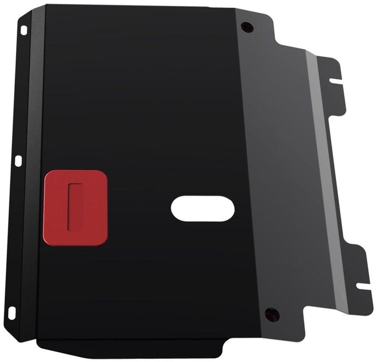 Защита картера и КПП Автоброня, для Ford Fiesta/Fusion. 111.01806.35104Технологически совершенный продукт за невысокую стоимость.Защита разработана с учетом особенностей днища автомобиля, что позволяет сохранить дорожный просвет с минимальным изменением.Защита устанавливается в штатные места кузова автомобиля. Глубокий штамп обеспечивает до двух раз больше жесткости в сравнении с обычной защитой той же толщины. Проштампованные ребра жесткости препятствуют деформации защиты при ударах.Тепловой зазор и вентиляционные отверстия обеспечивают сохранение температурного режима двигателя в норме. Скрытый крепеж предотвращает срыв крепежных элементов при наезде на препятствие.Шумопоглощающие резиновые элементы обеспечивают комфортную езду без вибраций и скрежета металла, а съемные лючки для слива масла и замены фильтра - экономию средств и время.Конструкция изделия не влияет на пассивную безопасность автомобиля (при ударе защита не воздействует на деформационные зоны кузова). Со штатным крепежом. В комплекте инструкция по установке.Толщина стали: 2 мм.