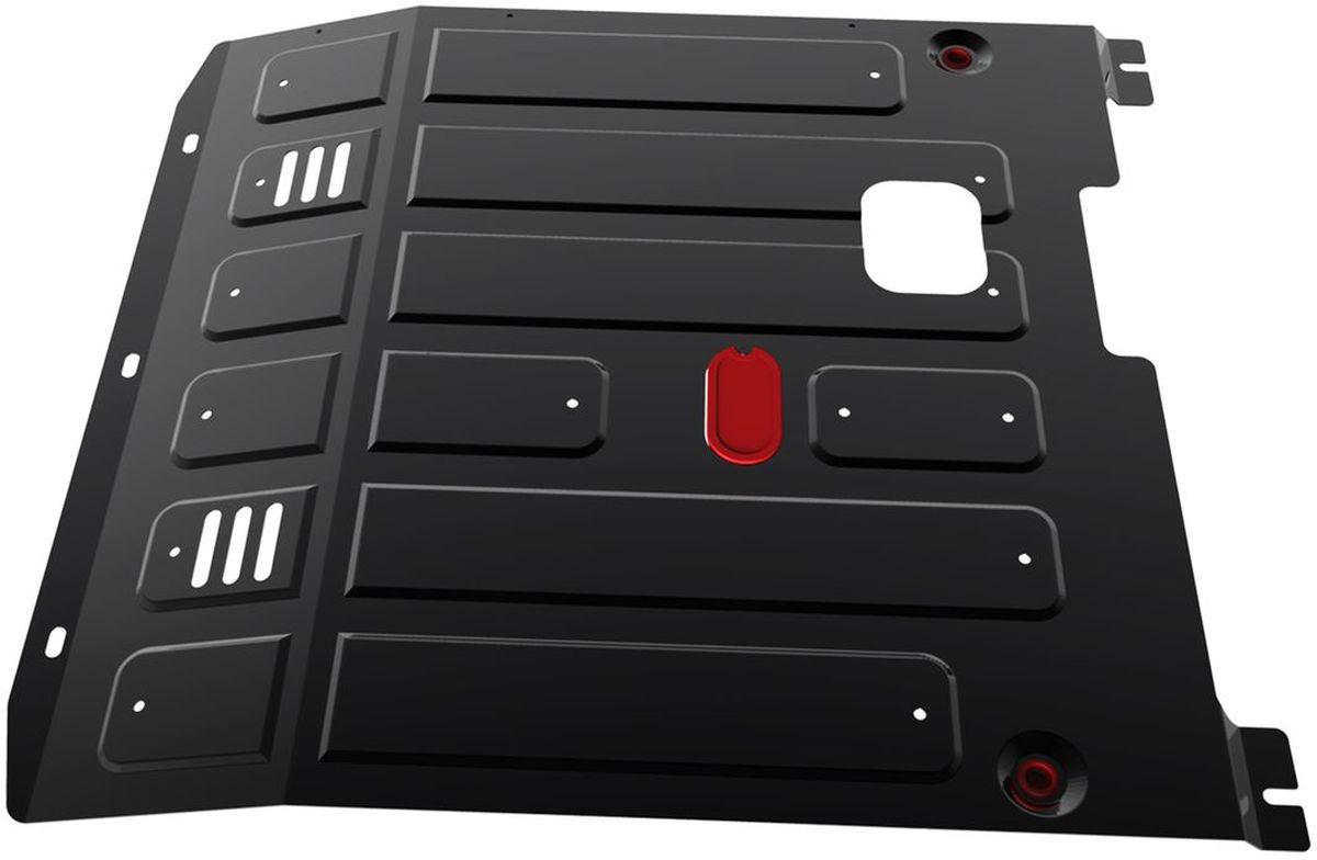Защита картера и КПП Автоброня, для Citroen Jumper/Fiat Ducato/Peugeot Boxer. 111.04303.198298130Технологически совершенный продукт за невысокую стоимость.Защита разработана с учетом особенностей днища автомобиля, что позволяет сохранить дорожный просвет с минимальным изменением.Защита устанавливается в штатные места кузова автомобиля. Глубокий штамп обеспечивает до двух раз больше жесткости в сравнении с обычной защитой той же толщины. Проштампованные ребра жесткости препятствуют деформации защиты при ударах.Тепловой зазор и вентиляционные отверстия обеспечивают сохранение температурного режима двигателя в норме. Скрытый крепеж предотвращает срыв крепежных элементов при наезде на препятствие.Шумопоглощающие резиновые элементы обеспечивают комфортную езду без вибраций и скрежета металла, а съемные лючки для слива масла и замены фильтра - экономию средств и время.Конструкция изделия не влияет на пассивную безопасность автомобиля (при ударе защита не воздействует на деформационные зоны кузова). Со штатным крепежом. В комплекте инструкция по установке.Толщина стали: 2 мм.