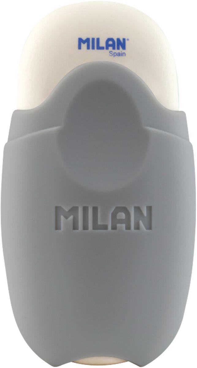 Milan Ластик School 1012 овальный цвет серыйFS-36054Ластик Milan School 1012 - это ластик с пластиковым держателем в эргономичном компактном корпусе. Заменяемый ластик.