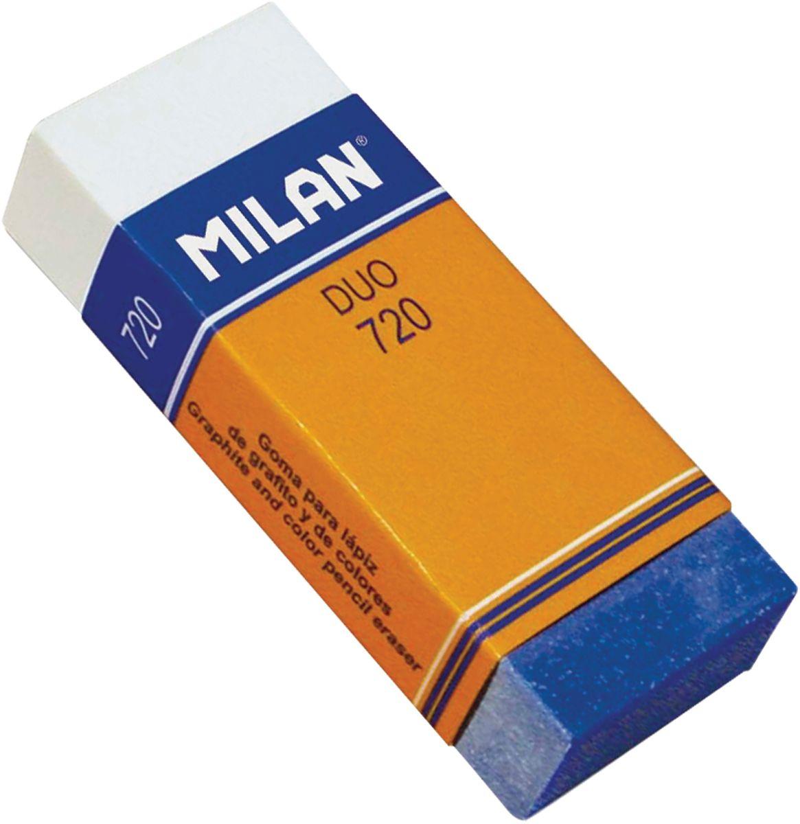Milan Ластик Duo 720 прямоугольныйFS-54103Ластик Milan Duo 720 - это высокоэффективный синтетический ластик нового поколения для работы с любыми видами графита и пигментов. Яркое дизайнерское решение подсказано функциональными особенностями полимерных добавок, повышающих абсорбирующие свойства и гарантирующих бережное отношение к структуре бумаги.