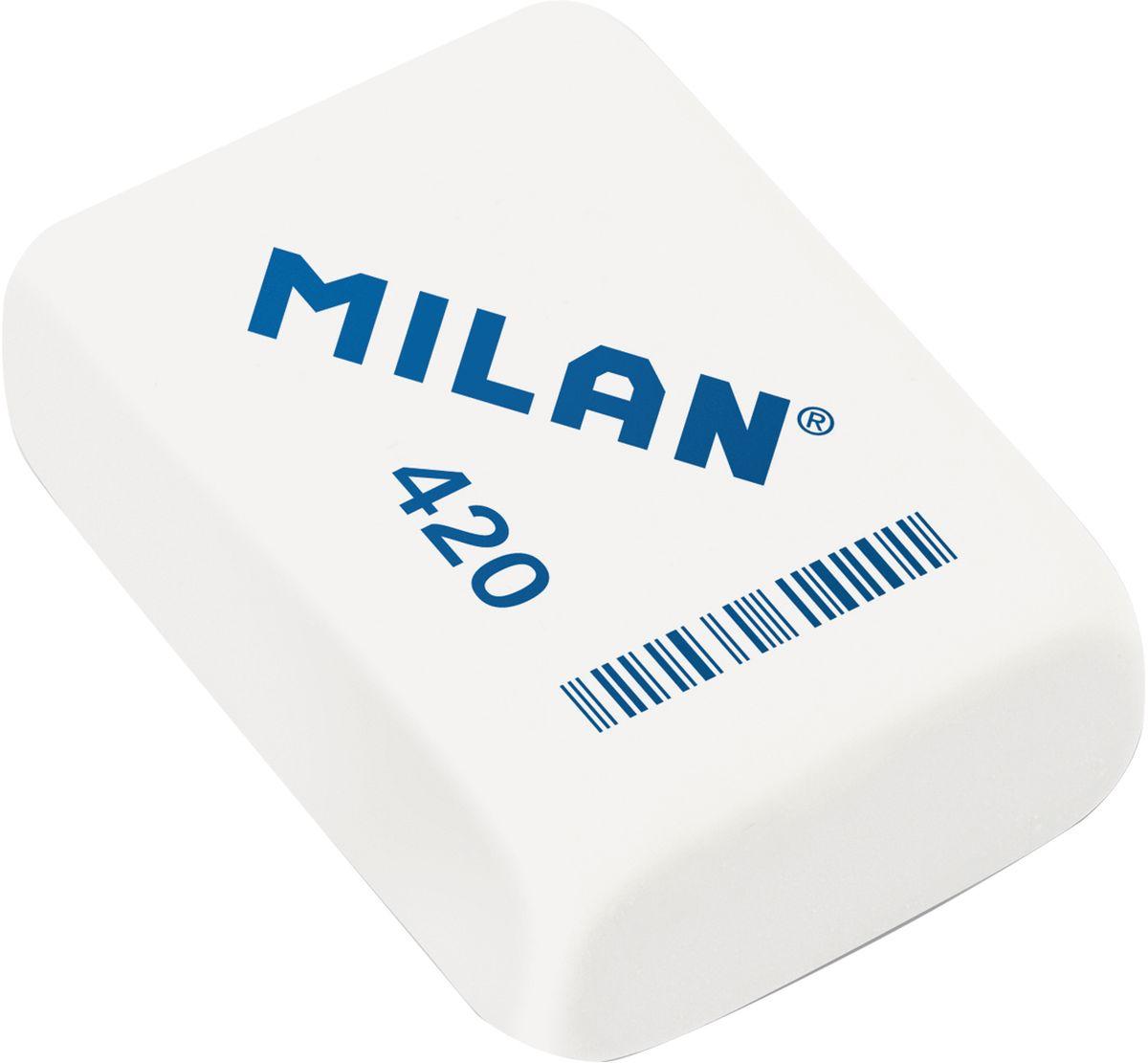 Milan Ластик 420 цвет белый72523WDПоликомпонентный ластик Milan традиционной формы имеет высокую абсорбцию и великолепную структуру.