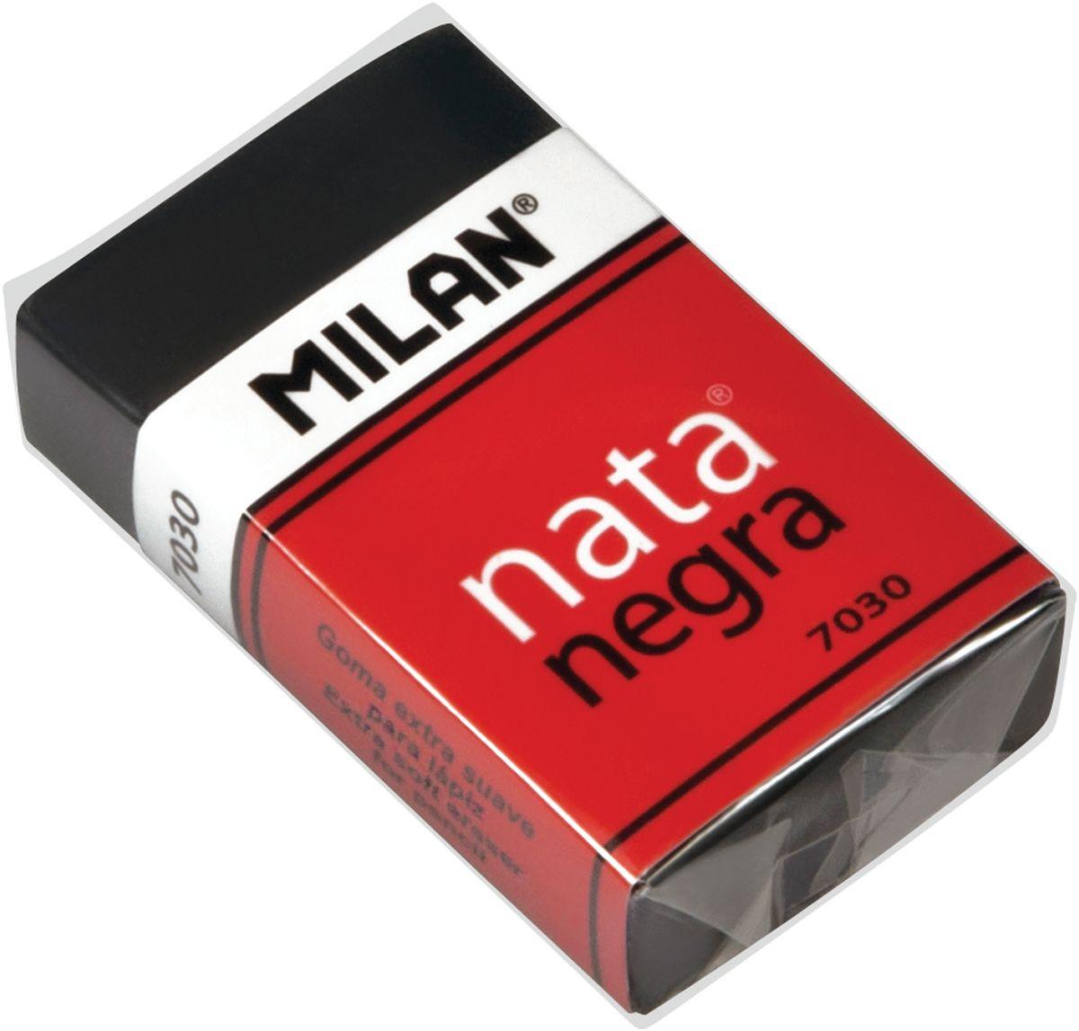Milan Ластик Nata Negra 7030 прямоугольный34650_желтый, зеленыйЛастик Milan Nata Negra 7030 - это мягкий резиновый ластик черного цвета. Подходит для удаления штрихов от большинства графитовых карандашей на всех видах поверхностей.
