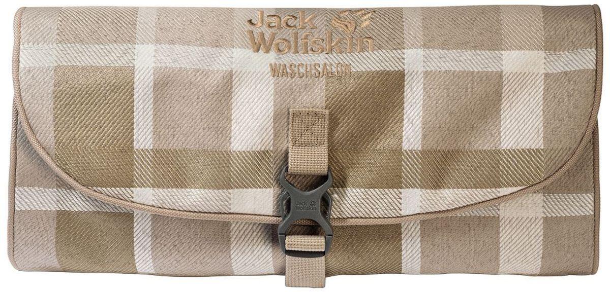 Нессесер Jack Wolfskin Waschsalon, цвет: бежевый. 86130-7951L-1968-2Несессер от Jack Wolfskin идеально подходит для путешествий и поездок выходного дня. Модель выполнена из плотного текстиля. Модель застегивается на клапан с фастексом. Два внутренних кармана на молнии, два кармана на липучке, два кармана без застежки, съемное зеркальце на липучке, крючок для подвешивания.