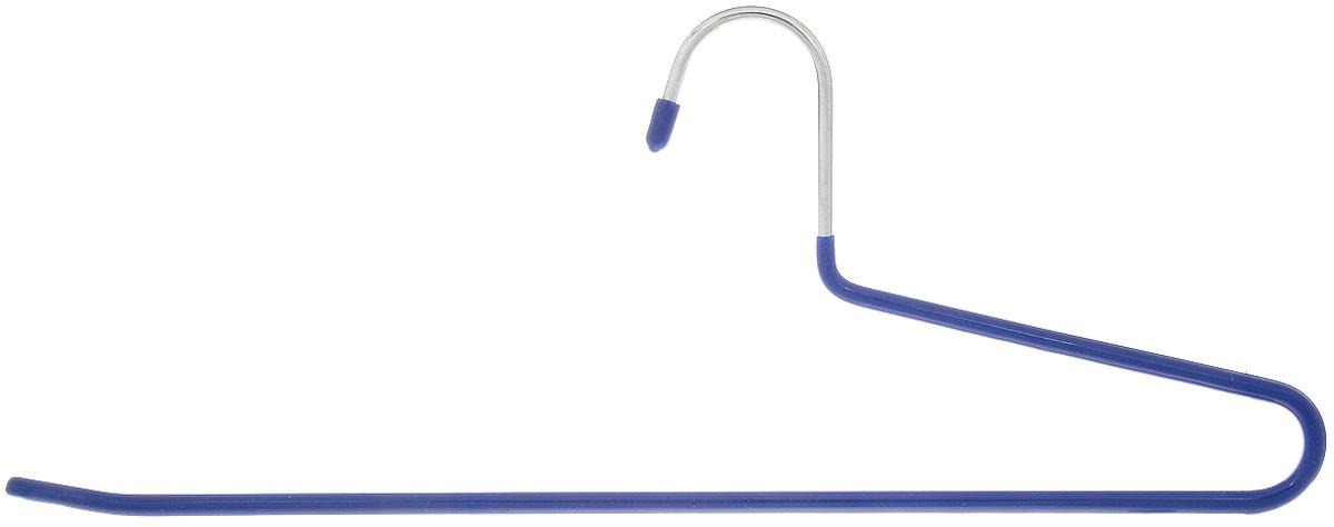 Вешалка для брюк Attribute Hanger Neo, цвет: синий, длина 35 смAHS401Вешалка для брюк Attribute Hanger Neo изготовлена из металла с антискользящим покрытием из ПВХ. Вешалка - это необходимый аксессуар для аккуратного хранения вещей. Длина вешалки: 35 см.