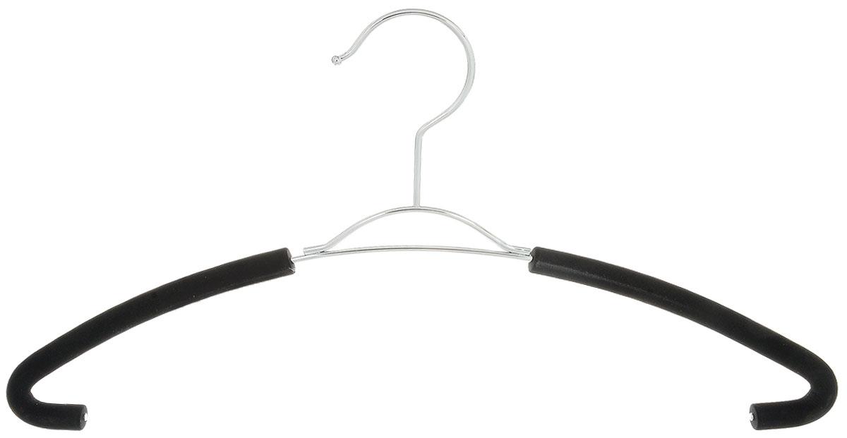 Вешалка для рубашек Attribute Hanger Eva, цвет: черный, длина 41 смUP210DFВешалка для рубашек Attribute Hanger Eva выполнена из качественной стали, плечики обтянуты поролоном.Вешалка - это незаменимая вещь для того, чтобы ваша одежда всегда оставалась в хорошем состоянии. Длина вешалки: 41 см.