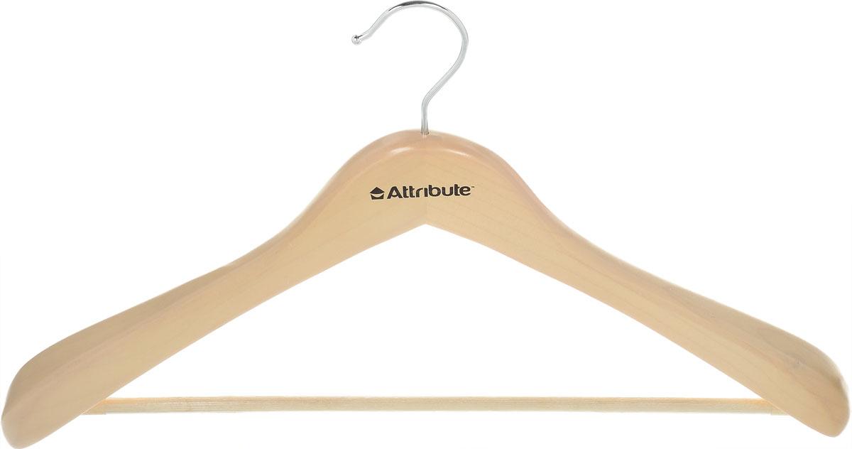 Вешалка для верхней одежды Attribute Hanger Classic, цвет: бежевый, длина 44 смAHN201Вешалка для верхней одежды Attribute Hanger Classic выполнена из дерева и оснащена перекладиной с нескользящим покрытием. Вешалка - это незаменимая вещь для того, чтобы ваша одежда всегда оставалась в хорошем состоянии. Длина вешалки: 44 см.