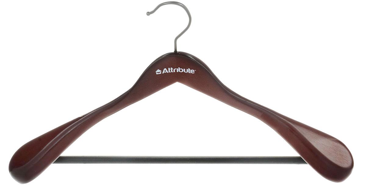Вешалка для верхней одежды Attribute Hanger Redwood, цвет: красное дерево, длина 44 смAHR211Вешалка для верхней одежды Attribute Hanger Redwood выполнена из дерева и оснащена перекладиной с нескользящим покрытием. Вешалка - это незаменимая вещь для того, чтобы ваша одежда всегда оставалась в хорошем состоянии. Длина вешалки: 44 см.