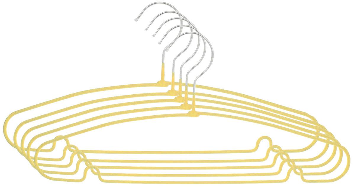 Вешалка Attribute Hanger Home, цвет: желтый, длина 40 см, 5 штAHS154_желтыйНабор вешалок Attribute Hanger Home выполнен из стали, обтянутой материалом из ПВХ. Вешалка - это незаменимая вещь для того, чтобы ваша одежда всегда оставалась в хорошем состоянии. Длина вешалки: 40 см.