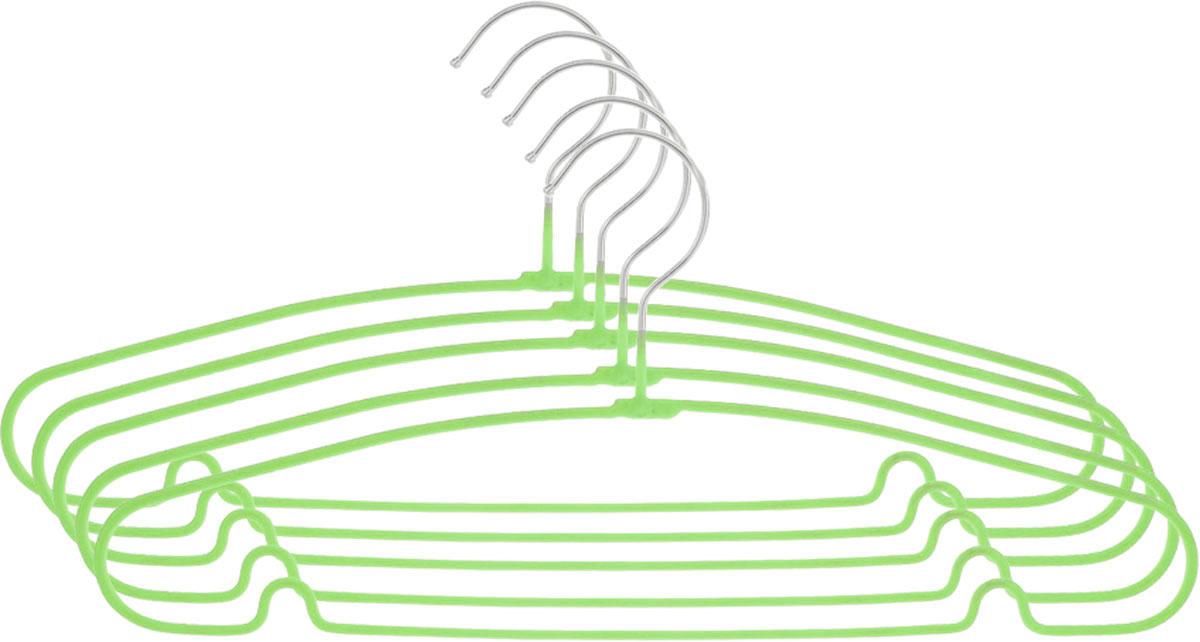 Вешалка Attribute Hanger Home, цвет: зеленый, длина 40 см, 5 штAHS154Набор вешалок Attribute Hanger Home выполнен из стали, обтянутой материалом из ПВХ. Вешалка - это незаменимая вещь для того, чтобы ваша одежда всегда оставалась в хорошем состоянии. Длина вешалки: 40 см.