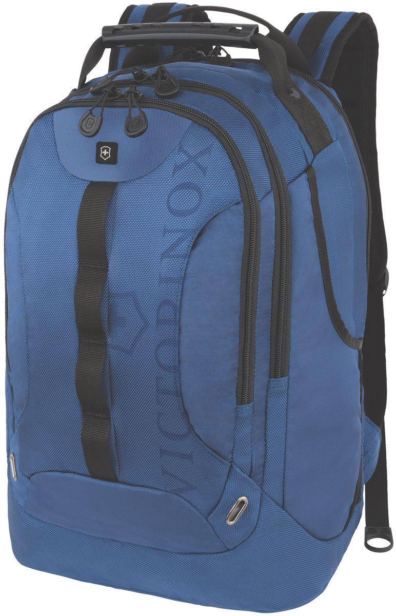 Рюкзак городской Victorinox VX Sport Trooper, цвет: голубой, 28 л + ПОДАРОК: нож-брелок Escort31105309Коллекция VX Sport сочетает в себе культовый дизайн и прочную конструкцию.Основанные на многогранной функциональности,которая присуща оригинальному швейцарскому армейскому ножу,рюкзаки этой коллекции обеспечивают защиту современным технологическим устройствам и многофункциональную организацию вещей таким образом,что вы будете готовы к любой ситуации. VICTORINOX арт. 31105309 РЮКЗАК КЛАССА «ЛЮКС» ДЛЯ НОУТБУКА ДИАГОНАЛЬЮ 16 / 41 СМ С КАРМАНОМ ДЛЯ ПЛАНШЕТА / ЭЛЕКТРОННОЙ КНИГИ 34x27x48 см 1,25 кг 28 л ХАРАКТЕРИСТИКИ И СВОЙСТВА • Мягкое отделение для ноутбука диагональю 16 (41см) с гладкой, устойчивой к механическим повреждениям подкладкой • Мягкий карман для портативного электронного устройства диагональю 10 (25 см) с гладкой, устойчивой к механическим повреждениям подкладкой • Внешняя организационная секция включает в себя карман на молнии по всей длине, карман для хранения электроники, карман для хранения периферийных устройств, сетчатый карман для документов, удостоверяющих...