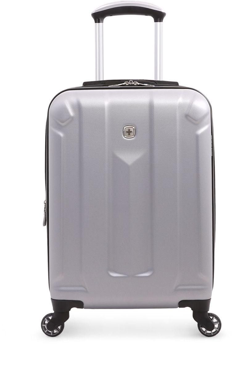 Чемодан Wenger Zurich III, цвет: светло-серый. 65734041546573404154Чемодан Wenger выполнен из ABS пластика и оформлен фирменной пластинкой. Изделие оснащено регулируемой выдвижной ручкой из авиационного алюминия с фиксатором, которая обеспечивает удобство перемещения чемодана. Также чемодан имеет удобные прочные ручки для переноски и 4 колеса, которые вращаются на 360 градусов, гарантируя максимальную манёвренность. Чемодан имеет два главных отделение, которые закрываются с помощью застежки-молнии. Внутри расположено два вместительных отделения, разделенные сетчатой тканевой перегородкой на молнии. Внутренний карман на молнии и эластичные ремни гарантируют надежную фиксацию вещей на месте. Вместимость чемодана может быть дополнительно увеличена на 5 см.