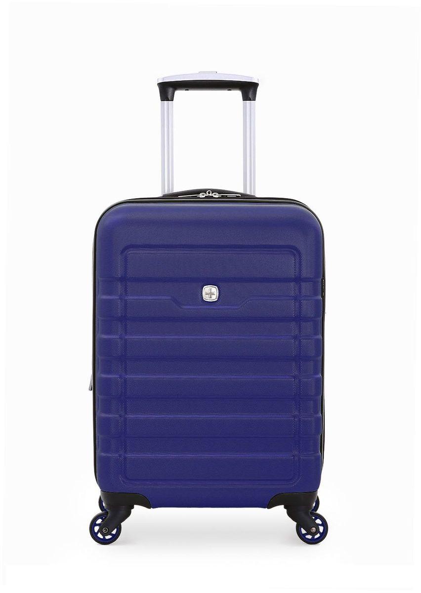 Чемодан Swiss Gera Tresa, цвет: синий, 66 л6581343165Эргономичность,качество и удобство в использовании — 3 основополагающие характеристики чемоданов SWISSGEAR.Высокачественные материалы и строгий контроль на всех этапах производства гарантируют ощущение комфорта и удовольствия от путешествия. SWISSGEAR арт. 6581343165 Удобный и надёжный чемодан для семейной пары – SWISSGEAR TRESA 6581343165. Изделие выполнено из прочного рельефного пластика, в ярком синем цвете. На чемодане имеются 3 ручки: телескопическая, с функцией максимального безопасного сложения, верхняя и боковая. Боковое хранение предусматривает наличие специальных защитных ножек. Чемодан отличается повышенной манёвренностью благодаря специальным колёсам, с максимальным радиусом вращения. Внутреннее пространство имеет два основных отсека: центральное отделение, вещи в котором фиксируются х-образной резинкой и дополнительный отсек – имеет защитный клапан из сетки на молнии. Также внутри расположен удобный компактный карман на молнии. Размер изделия – 42x27x59 см, вместимость –...