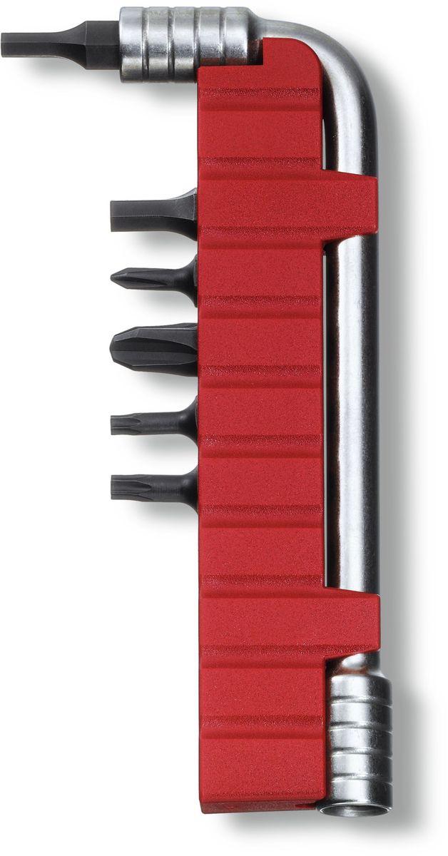 Ключ монтажный Victorinox, с 6 насадками, цвет: серый металлик03/1/12Монтажный ключ VICTORINOX с набором из 6 насадок для мультитулов: шестигранник 3, шестигранник 4, крестовая отвёртка 0, крестовая отвёртка 3, насадка Torx 10, насадка Torx 5, нержавеющая сталь