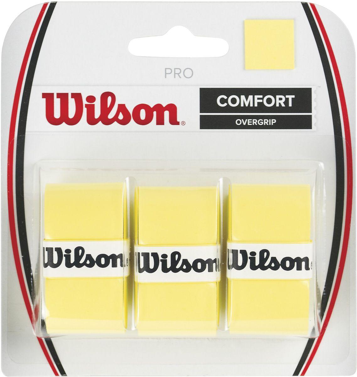 Обмотка Wilson Pro Overgrip, цвет: желтыйWRZ4014YEСамый популярный овергрипп в мире. Выбор Лидеров мирового Тенниса Серены и Роджера