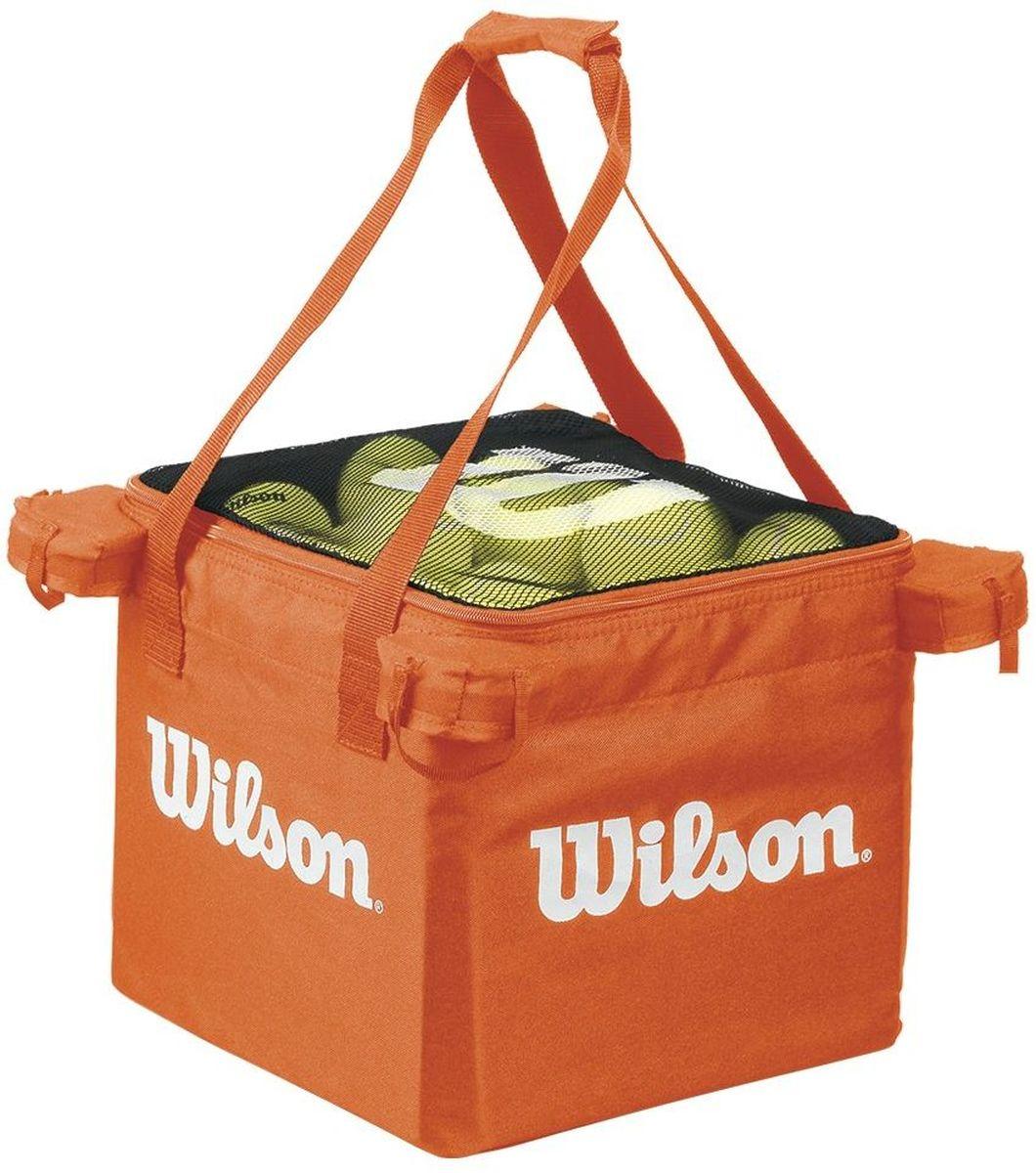 Корзина для мячей Wilson Teaching Cart, цвет: оранжевый00105Универсальная корзина для тренировок. Поможет оптимизировать тренировочный процесс. Может использоваться как основная корзина для занятий с детьми в программе Теннис до 10 лет на малых кортах, например Оранжевыми мячами.