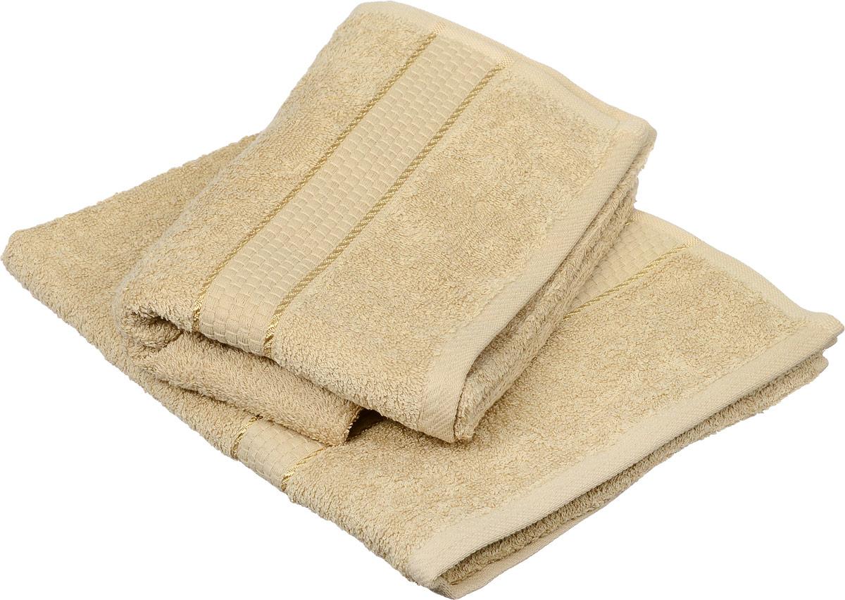 Набор из 2-ух банных, махровых полотенец Aisha Home Textile, цвет: песочный, 50 х 90 см.531-401Полотенца Aisha Home Textile выполнены из натуральной махровой ткани (100% хлопок). Изделие отлично впитывает влагу, быстро сохнет, сохраняет яркость цвета и не теряет форму даже после многократных стирок. Полотенце очень практично и неприхотливо в уходе. Оно станет достойным выбором для вас и приятным подарком для ваших близких. В комплект входит 2 полотенца размером 50 х 90 см.