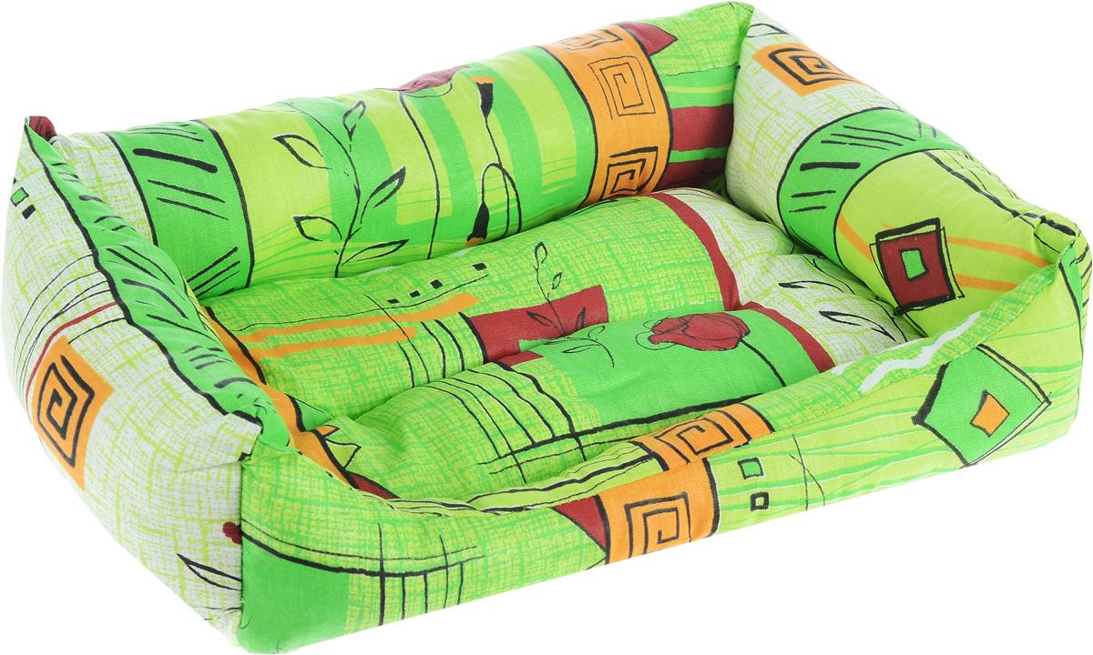 Лежак для животных Elite Valley Пуфик, цвет: светло-зеленый, оранжевый, бордовый, 41 х 28 х 13 см0120710Мягкий и уютный лежак Elite Valley Пуфик обязательно понравится вашему питомцу. Он выполнен из высококачественной бязи, а наполнитель - холлофайбер. Такой материал не теряет своей формы долгое время. Борта и встроенный матрас обеспечат вашему любимцу уют.Мягкий лежак станет излюбленным местом вашего питомца, подарит спокойный и комфортный сон, а также убережет вашу мебель от многочисленной шерсти.