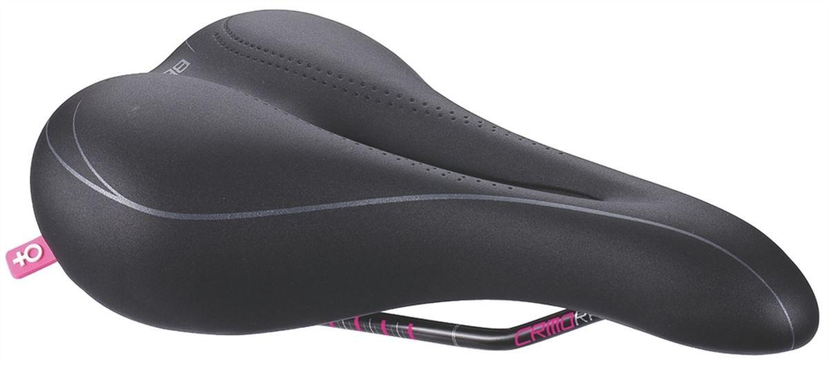 Седло женское спортивное BBB CrMo. BSD-67BSD-67Спортивное велосипедное седло BBB CrMo спроектировано специально для женщин. Геометрия ComfortLite и анатомическая форма с центральным каналом обеспечивают удобство при езде. Легкие рамки со шкалой регулировки выполнены из хром-молибденовой стали. Седло водостойкое. Размер: 162 х 256 мм. Вес: 264 грамма.