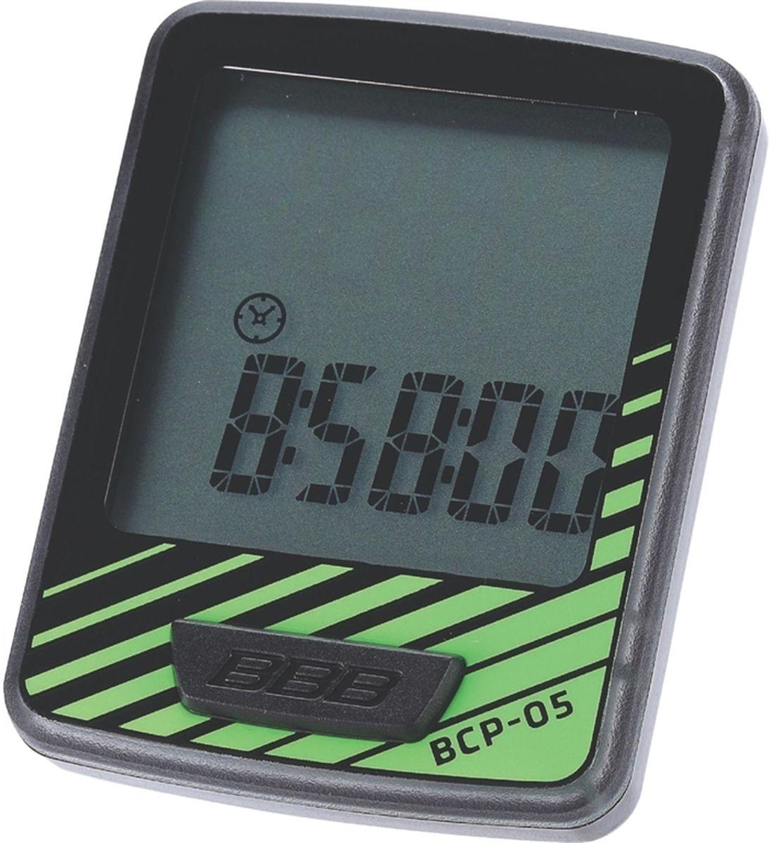 """Велокомпьютер BBB """"DashBoard"""", 7 функций, цвет: черный, зеленый BCP-05"""