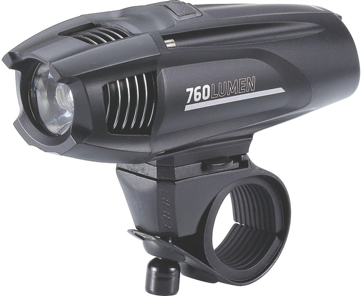 Фонарь велосипедный BBB Strike 760 Lumen LED, переднийBLS-74Фонарь Strike 760 мощный, круглый световой поток, который одинаково хорошо подходит как для шоссе, так и для маунтинбайка. Устанавливается как на шлем, так и на руль. Питание от встроенного аккумулятора. Мощный светодиод XML CREE LED со световым потоком 760 Люмен. Быстро и просто заряжается от USB. Индикатор заряда батареи. Водонепроницаемый. Сменный встроенный аккумулятор EnergyBar (BLS-93). Литий-ионный аккумулятор Samsung (2600mAh, 3.7V). 5 режимов: Супер яркий, яркий, стандартный, экономичный и мигающий. В комплекте крепление на руль TightFix (BLS-94). В комплекте кабель mini USB. Вес: 127 гр. (в комплекте с креплением). Размер: 112х35х40 мм. Цвет: черный.