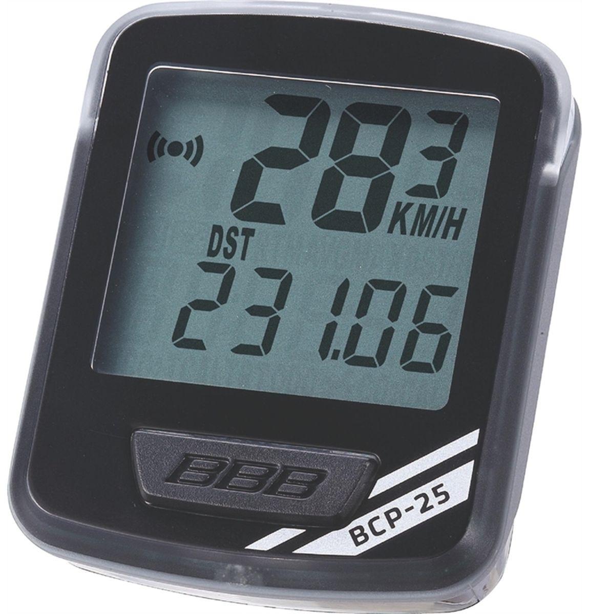 """Велокомпьютер BBB """"NanoBoard"""", 7 функций, цвет: черный, серебристый BCP-25"""