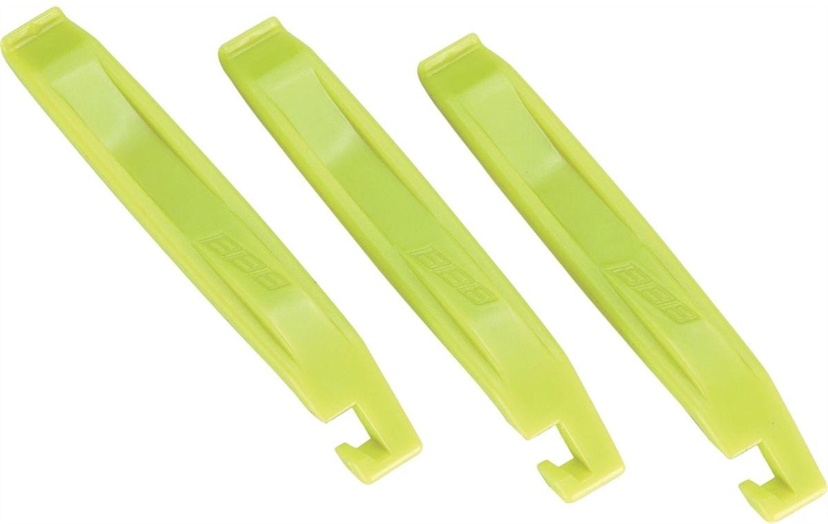Инструмент BBB EasyLift, цвет: желтый, 3 шт1508160Легкие в обращении инструменты BBB EasyLift предназначены для монтажа и демонтажа покрышек. Могут соединяться вместе. Инструменты выполнены из пластика.