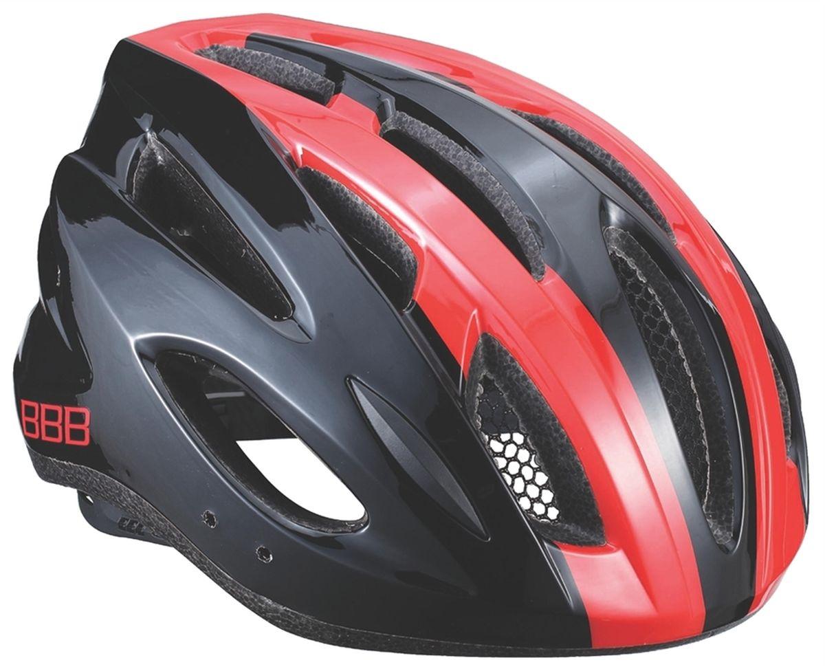 Шлем летний BBB Condor, цвет: черный, красный. Размер MBHE-35Если вы не понаслышке знакомы с разнообразными насекомыми, залетающими в вентиляционные отверстия шлема летом - вам может очень пригодиться Condor. Фронтальные отверстия прикрыты мелкой сеткой для защиты от непрошенных гостей. Кроме того, у Condor всего суммарно 18 отверстий для вентиляции и интегрированная конструкция для максимальной защиты в случае падений. Съёмный козырёк делает этот шлем одинаково хорошо подходящим как для шоссе, так и для маунтинбайка. Интегрированная конструкция. 18 вентиляционных отверстий. Отверстия для вентиляции в задней части шлема для оптимального распределения потоков воздуха. Защитная сетка от насекомых в вентиляционных отверстиях. Настраиваемые ремешки для максимально комфортной посадки. Простая в использовании система настройки TwistClose, можно настроить шлем одной рукой. Съемные мягкие накладки с антибактериальными свойствами и возможностью стирки. Светоотражающие наклейки на задней части шлема. ...