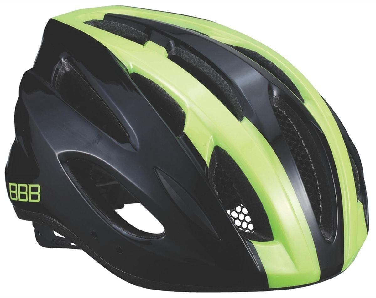 Шлем летний BBB Condor, цвет: черный, желтый. Размер M3038Если вы не понаслышке знакомы с разнообразными насекомыми, залетающими в вентиляционные отверстия шлема летом - вам может очень пригодиться BBB Condor. Фронтальные отверстия прикрыты мелкой сеткой для защиты от непрошенных гостей. Кроме того, у шлема всего суммарно 18 отверстий для вентиляции и интегрированная конструкция для максимальной защиты в случае падений. Съемный козырек делает этот шлем одинаково хорошо подходящим как для шоссе, так и для маунтинбайка.Особенности:Интегрированная конструкция.18 вентиляционных отверстий.Отверстия для вентиляции в задней части шлема для оптимального распределения потоков воздуха.Защитная сетка от насекомых в вентиляционных отверстиях.Настраиваемые ремешки для максимально комфортной посадки.Простая в использовании система настройки TwistClose, можно настроить шлем одной рукой.Съемные мягкие накладки с антибактериальными свойствами и возможностью стирки.Светоотражающие наклейки на задней части шлема.Съемный козырек в комплекте.Обхват головы: 54-58 см.