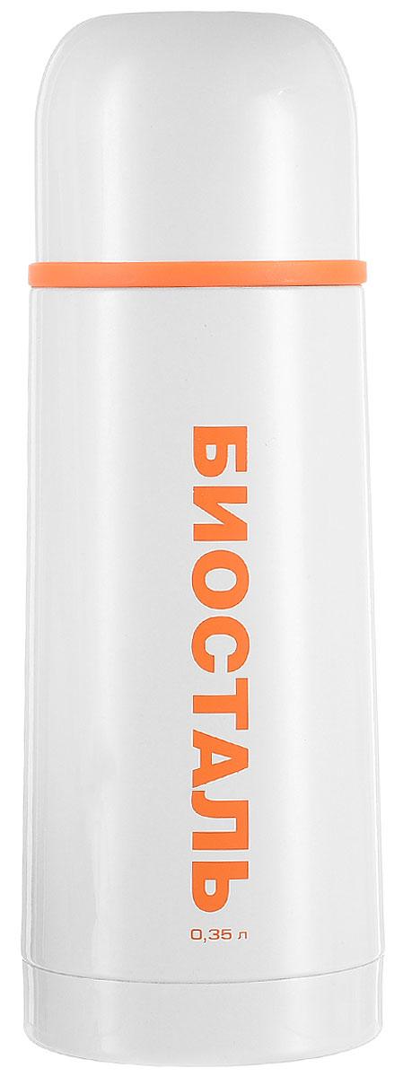 Термос Biostal Flёr, цвет: белый, 350 мл115610Термос с узким горлом Biostal Flёr, изготовленный из высококачественной нержавеющей стали 18/8, покрыт износостойким лаком. Такой термос прост в использовании, экономичен и многофункционален. Термос предназначен для хранения горячих и холодных напитков (чая, кофе) и укомплектован пробкой с кнопкой. Такая пробка удобна в использовании и позволяет, не отвинчивая ее, наливать напитки после простого нажатия. Изделие также оснащено крышкой-чашкой. Легкий и прочный термос Biostal Flёr сохранит ваши напитки горячими или холодными надолго. Высота термоса (с учетом крышки): 19,5 см.Диаметр горлышка: 4,3 см.