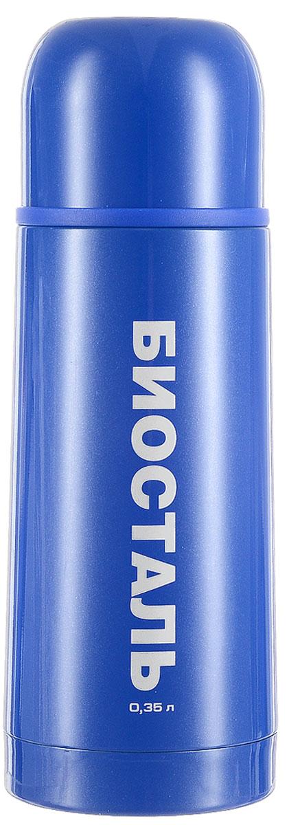 Термос Biostal Flёr, цвет: синий, 350 мл115610Термос с узким горлом Biostal Flёr, изготовленный из высококачественной нержавеющей стали 18/8, покрыт износостойким лаком. Такой термос прост в использовании, экономичен и многофункционален. Термос предназначен для хранения горячих и холодных напитков (чая, кофе) и укомплектован пробкой с кнопкой. Такая пробка удобна в использовании и позволяет, не отвинчивая ее, наливать напитки после простого нажатия. Изделие также оснащено крышкой-чашкой. Легкий и прочный термос Biostal Flёr сохранит ваши напитки горячими или холодными надолго. Высота термоса (с учетом крышки): 19,5 см.Диаметр горлышка: 4,3 см.
