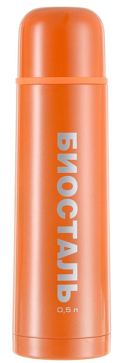 Термос Biostal Flёr, цвет: оранжевый, 500 млa026124Термос с узким горлом Biostal Flёr, изготовленный из высококачественной нержавеющей стали 18/8, покрыт износостойким лаком. Такой термос прост в использовании, экономичен и многофункционален. Термос предназначен для хранения горячих и холодных напитков (чая, кофе) и укомплектован пробкой с кнопкой. Такая пробка удобна в использовании и позволяет, не отвинчивая ее, наливать напитки после простого нажатия. Изделие также оснащено крышкой-чашкой. Легкий и прочный термос Biostal Flёr сохранит ваши напитки горячими или холодными надолго. Высота термоса (с учетом крышки): 24 см.Диаметр горлышка: 4,5 см.