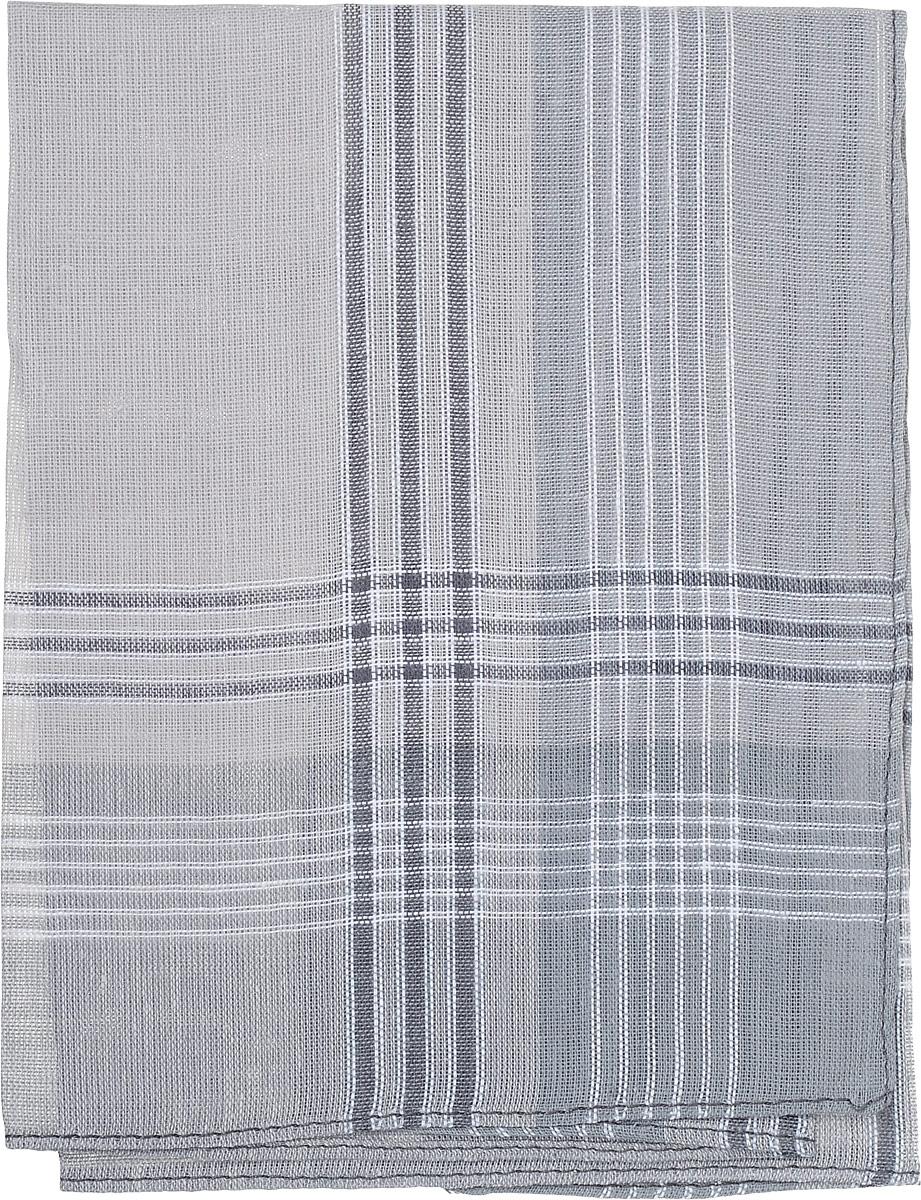 Платок носовой мужской Zlata Korunka, цвет: серый, белый. 45449. Размер 27 х 27 см45449_серый, белыйМужской носовой платок Zlata Korunka, изготовленный из натурального хлопка, приятен в использовании и отлично впитывает влагу. Материал не садится и хорошо стирается. Модель оформлена принтом в полоску.
