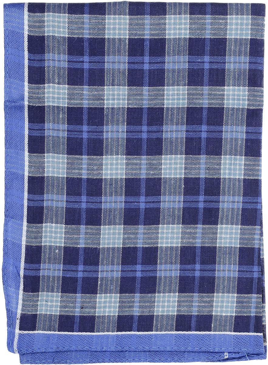 Платок носовой мужской Zlata Korunka, цвет: синий. 45495. Размер 38 х 38 смСерьги с подвескамиМужской носовой платок Zlata Korunka, изготовленный из натурального хлопка, приятен в использовании и отлично впитывает влагу. Материал не садится и хорошо стирается. Модель оформлена принтом в клетку.
