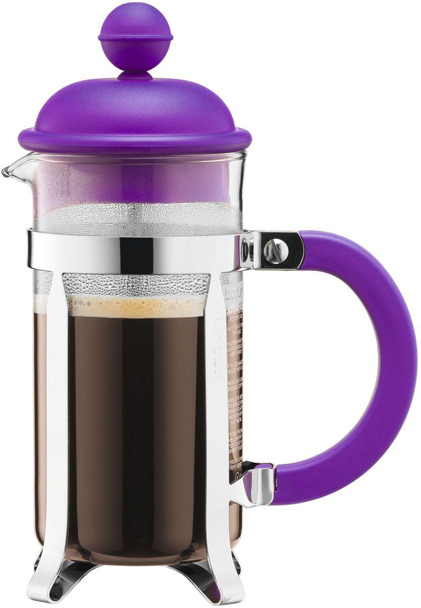 Кофейник с прессом Bodum Caffettiera, цвет: фиолетовый, 350 мл. A1913-150-Y16A1913-150-Y16