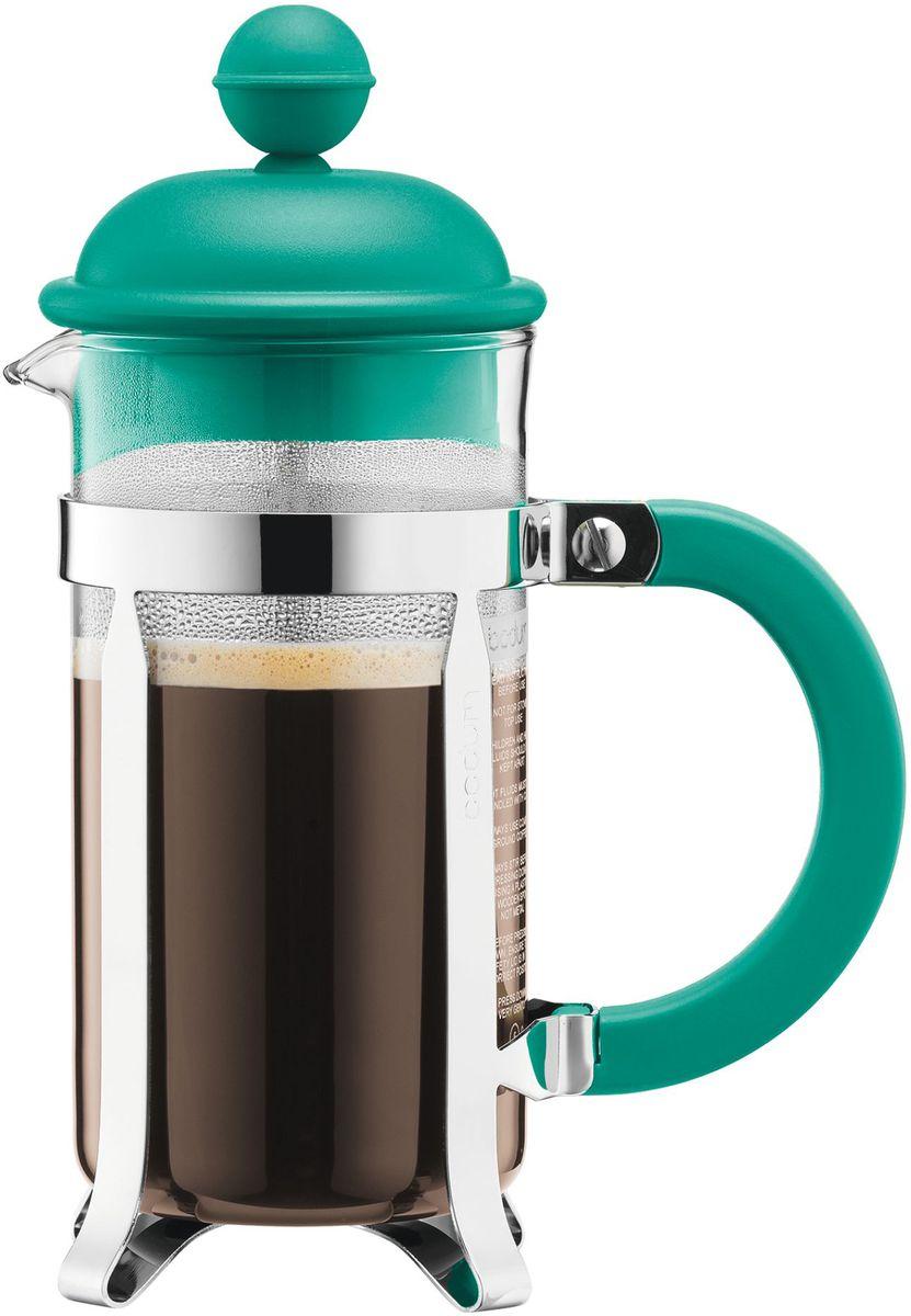 Кофейник с прессом Bodum Caffettiera, цвет: бирюзовый, 350 мл. A1913-159-Y16A1913-159-Y16