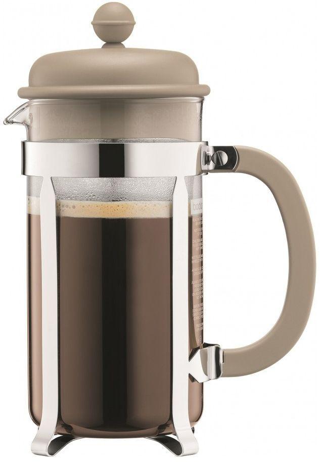 Кофейник с прессом Bodum Caffettiera, цвет: песочный, 1 л. A1918-133-Y16A1918-133-Y16