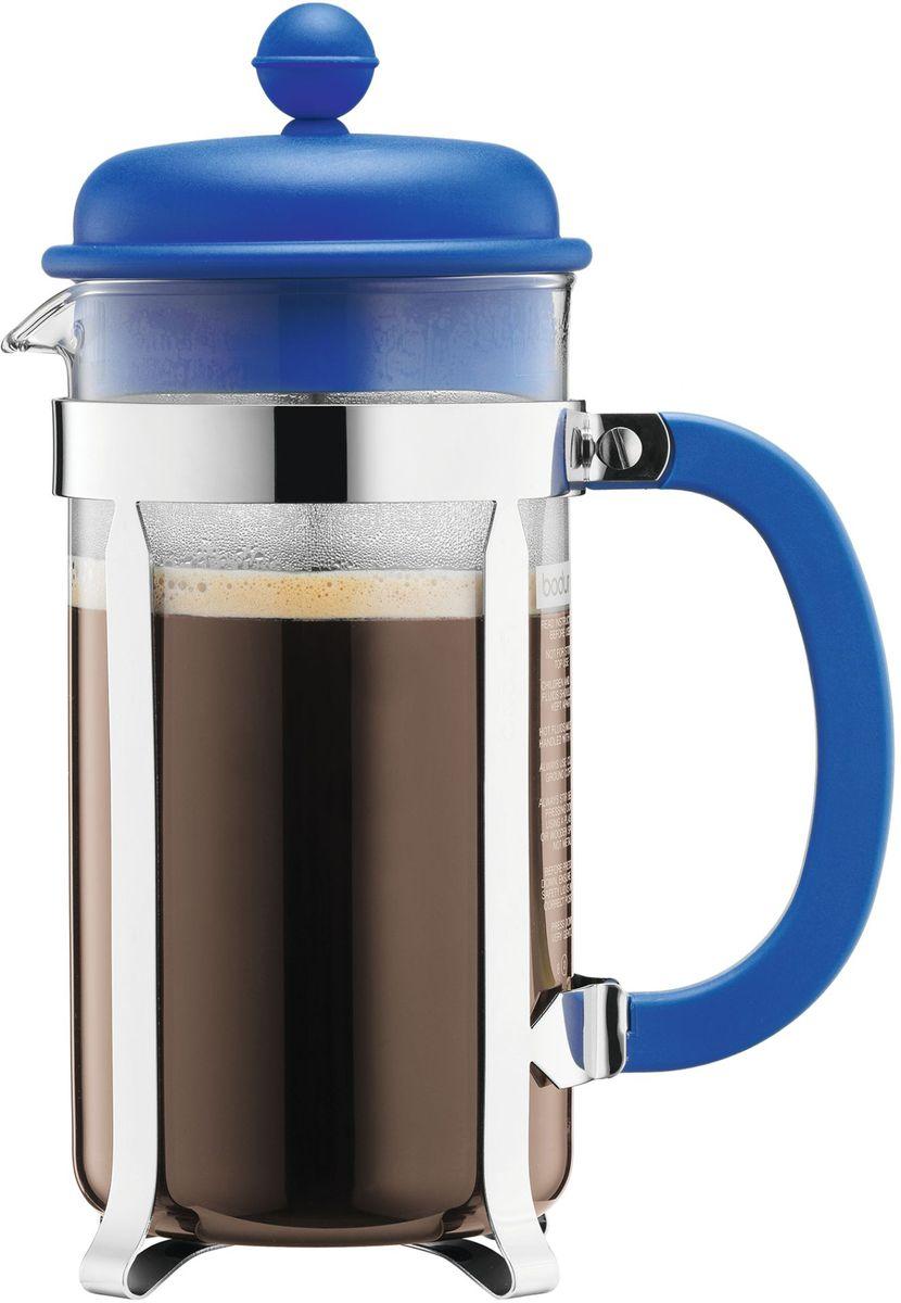 Кофейник с прессом Bodum Caffettiera, цвет: синий, 1 л. A1918-140-Y16A1918-140-Y16