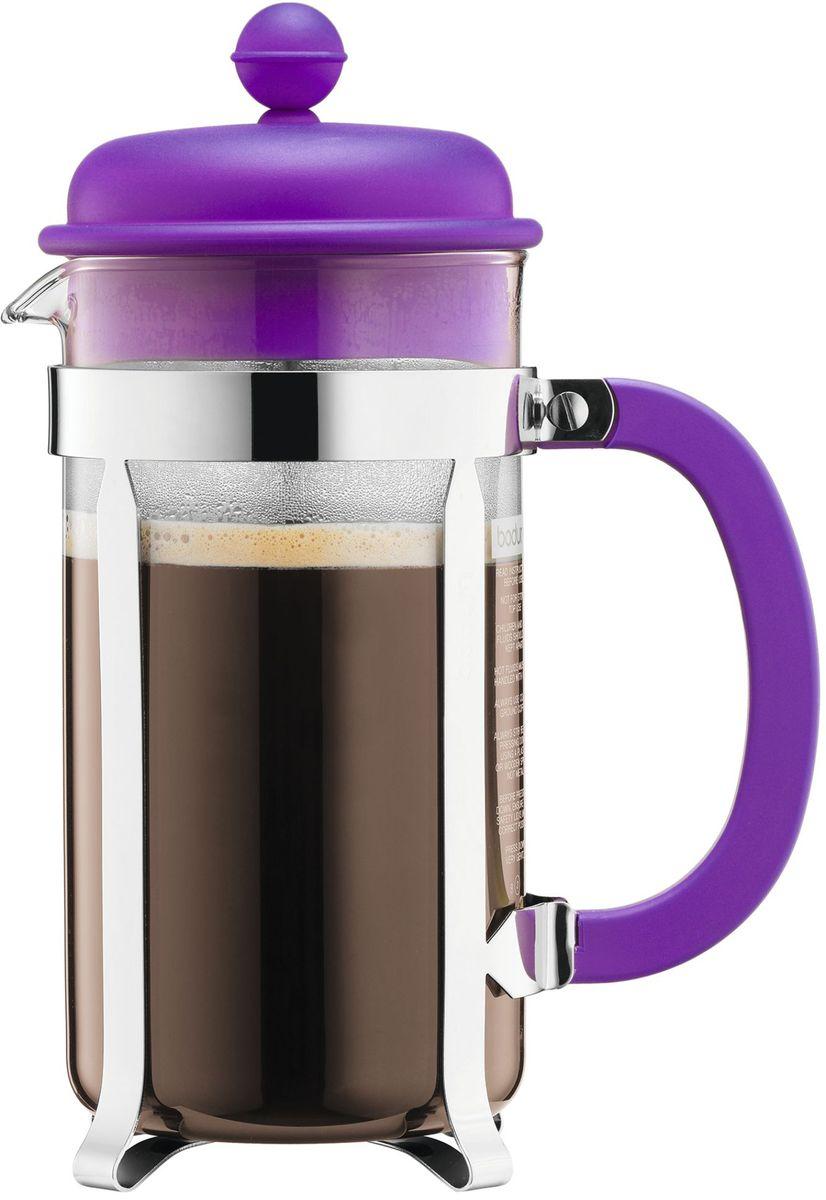 Кофейник с прессом Bodum Caffettiera, цвет: фиолетовый, 1 л. A1918-150-Y16A1918-150-Y16