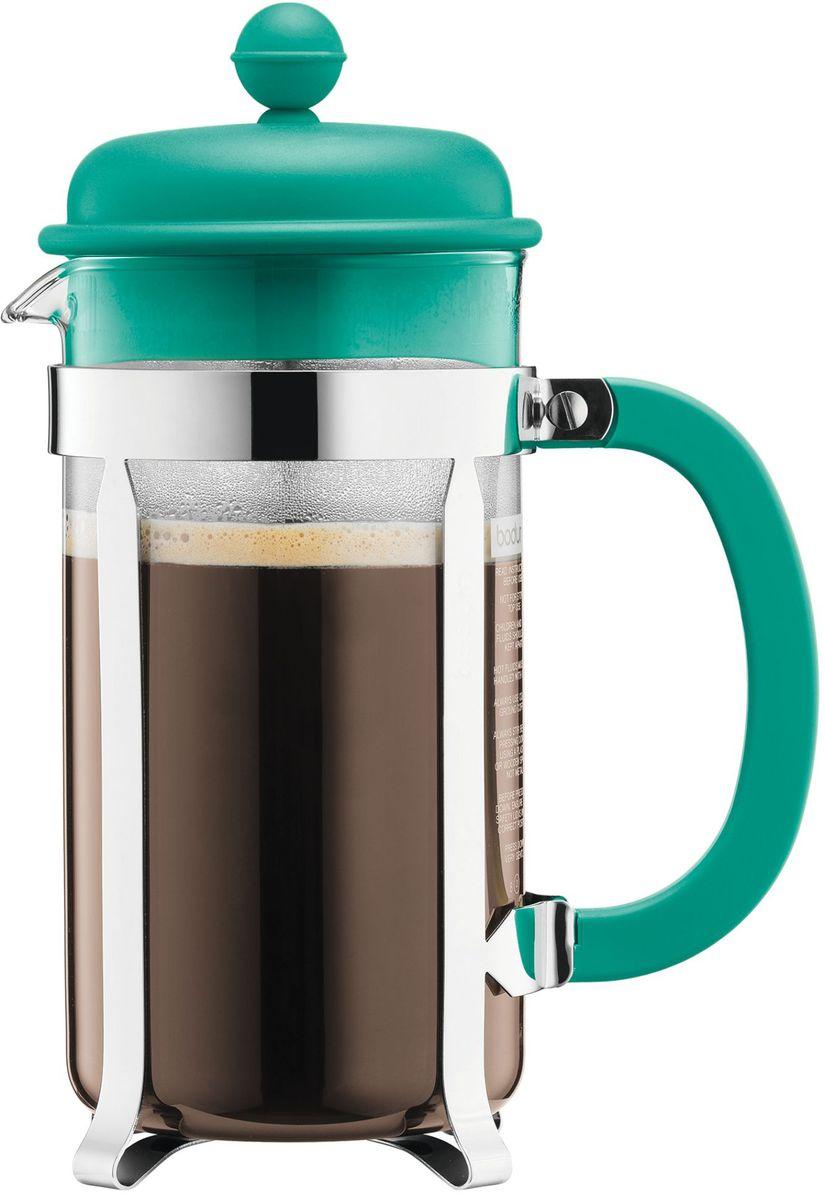 Кофейник с прессом Bodum Caffettiera, цвет: бирюзовый, 1 л. A1918-159-Y16A1918-159-Y16