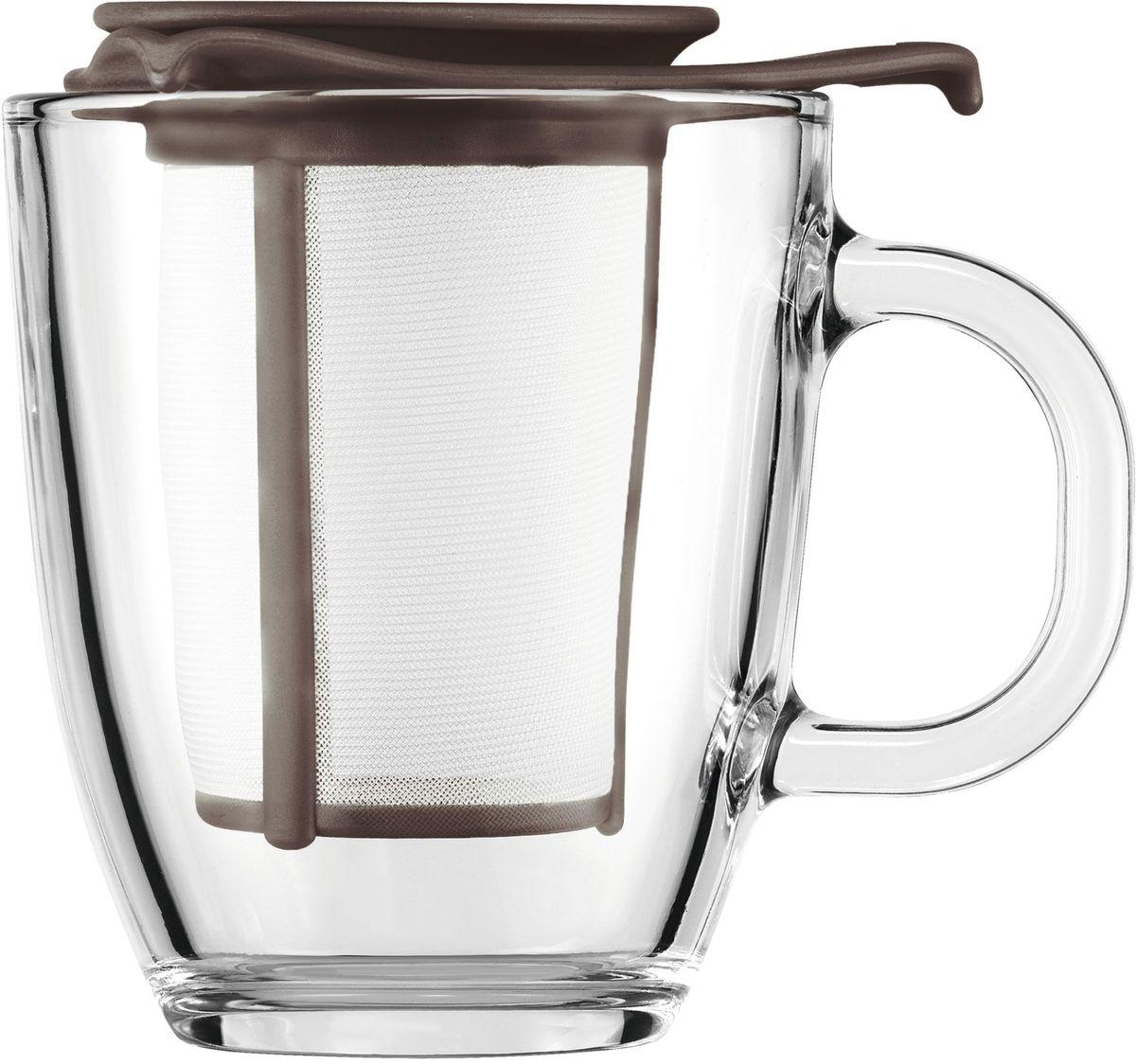 Набор кружка с фильтром Bodum YO-YO, цвет: коричневый. AK11239-618-Y16AK11239-618-Y16
