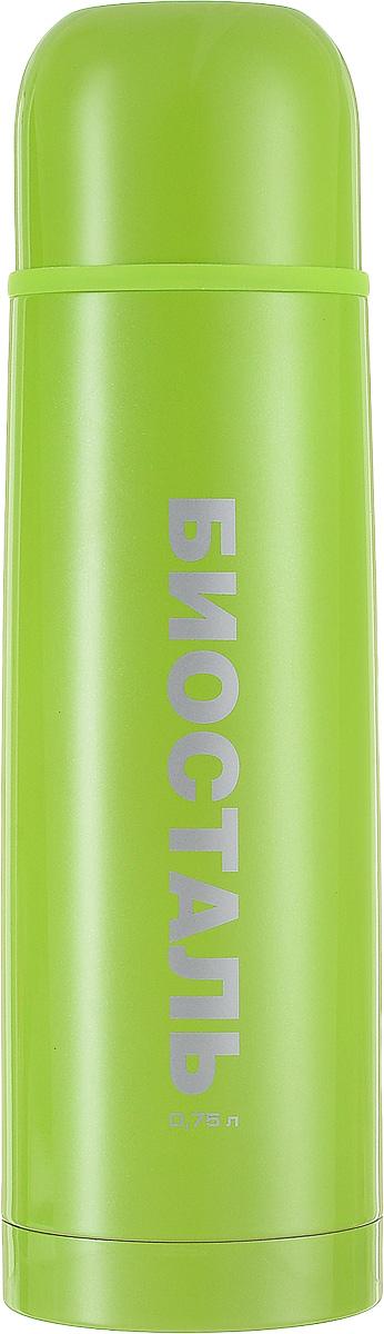 Термос Biostal, цвет: зеленый, 0,75 лNB-750С-GТермос Biostal прост в использовании и многофункционален. Он изготовлен из высококачественной нержавеющей стали. Термос предназначен для хранения горячих и холодных напитков. Корпус изделия покрыт защитным цветным лаком. Удобная пробка с кнопкой позволяет наливать напитки, не отвинчивая саму пробку. Крышку термоса можно использовать в качестве чашки.