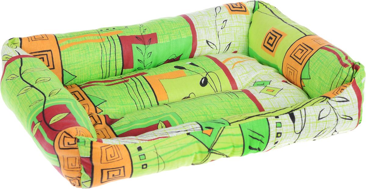 Лежак для животных Elite Valley Пуфик, цвет: светло-зеленый, оранжевый, бордовыйй, 46 х 33 х 14 смЛ4/2 Лежак Пуфик открытый _ стамбул зеленый материал бязь, холофайберМягкий и уютный лежак Elite Valley Пуфик обязательно понравится вашему питомцу. Он выполнен из высококачественной бязи, а наполнитель - холлофайбер. Такой материал не теряет своей формы долгое время. Борта и встроенный матрас обеспечат вашему любимцу уют. Мягкий лежак станет излюбленным местом вашего питомца, подарит ему спокойный и комфортный сон, а также убережет вашу мебель от многочисленной шерсти.