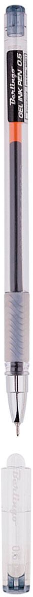 Berlingo Ручка гелевая Standard чернаяCGp_50011Гелевая ручка Berlingo Standard с колпачком и пластиковым клипом. Имеет игольчатый стержень и прозрачный корпус, который позволяет контролировать расход чернил. Грип мягкий резиновый с рифлением в зоне захвата, препятствует скольжению пальцев при письме. Качественные чернила обеспечивают чёткое и ровное письмо. Диаметр пишущего узла - 0,5 мм.