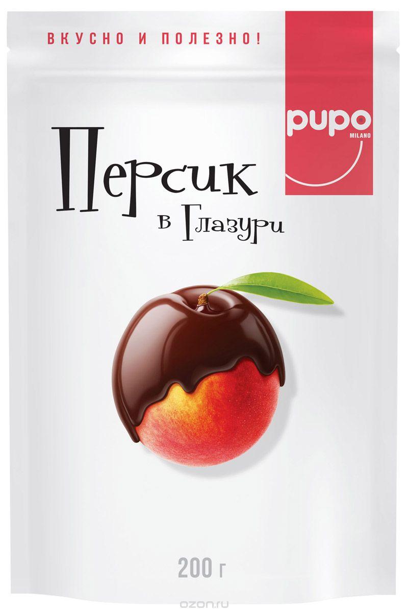 Pupo конфеты Персик в шоколадной глазури, 200 г 14.4155