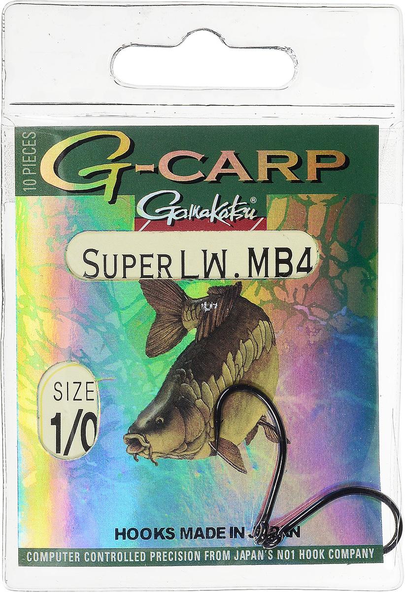Крючок Gamakatsu G-Carp Super LW MB4, № 1/0, 10шт 14686700100
