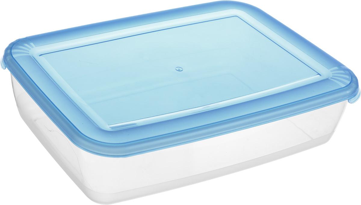 Контейнер Полимербыт Лайт, цвет: прозрачный, синий, 3 лVT-1520(SR)Контейнер Полимербыт Лайт прямоугольной формы, изготовленный из прочного полипропилена, предназначен специально для хранения пищевых продуктов. Крышка легко открывается и плотно закрывается.Контейнер устойчив к воздействию масел и жиров, легко моется. Прозрачные стенки позволяют видеть содержимое. Контейнер имеет возможность хранения продуктов глубокой заморозки, обладает высокой прочностью. Можно мыть в посудомоечной машине. Подходит для использования в микроволновых печах.